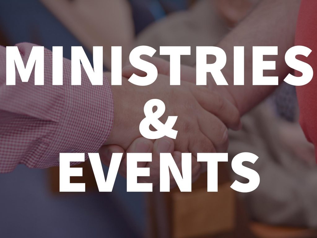 ministry and events